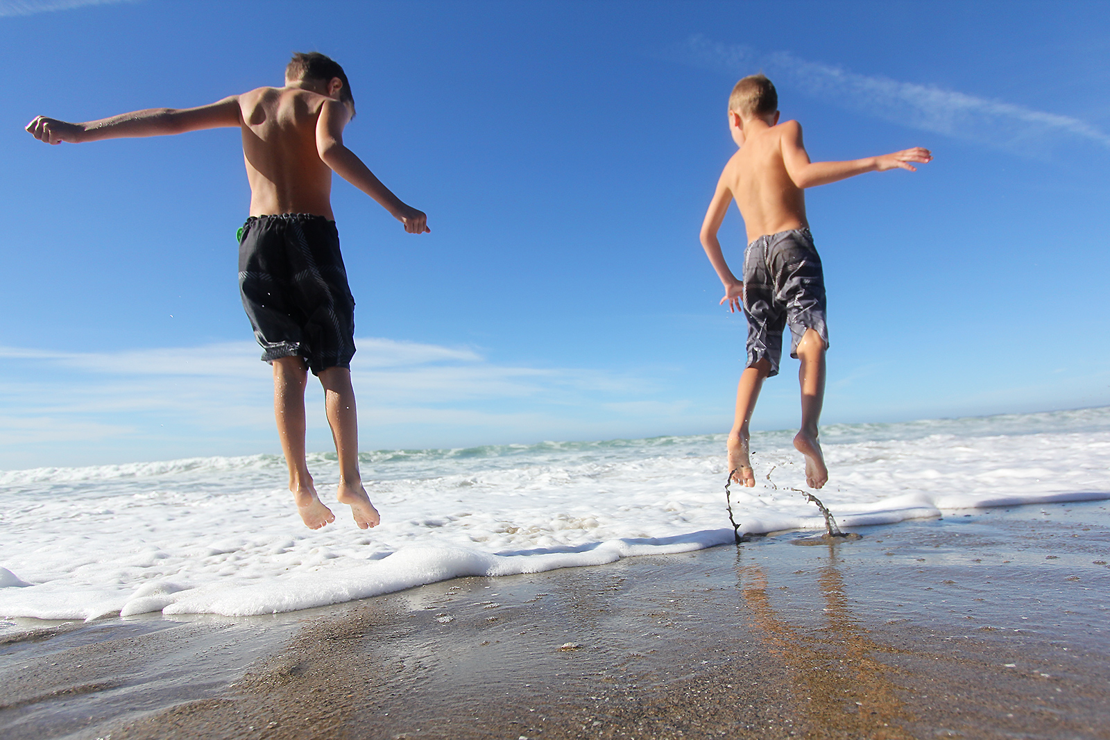 Jumping in the waves in Califoria after my sister's wedding. I had a few close calls with keeping the camera dry...