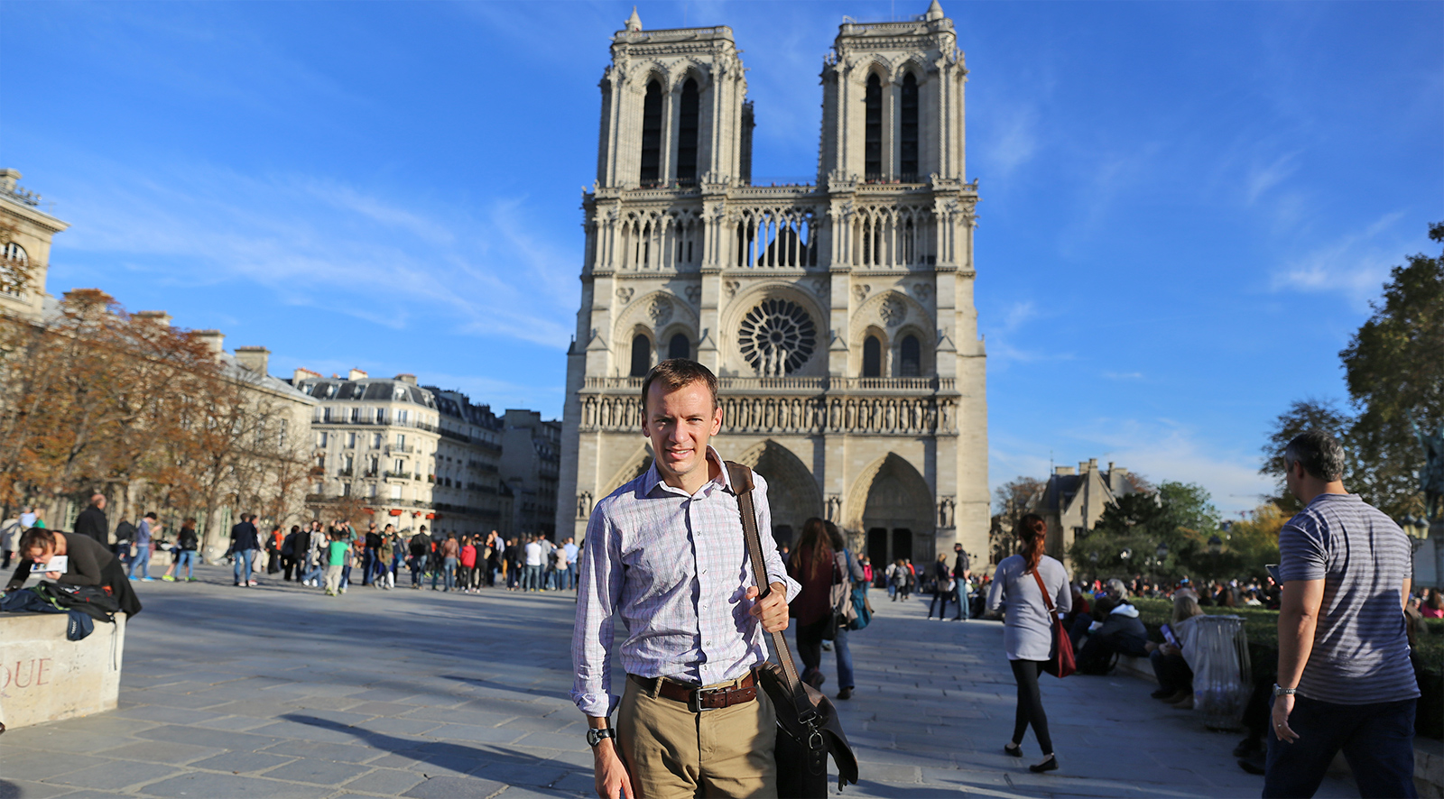 I'm front of Notre Dame in Paris during a trip there in October-- it was wonderful to get some time in Paris.