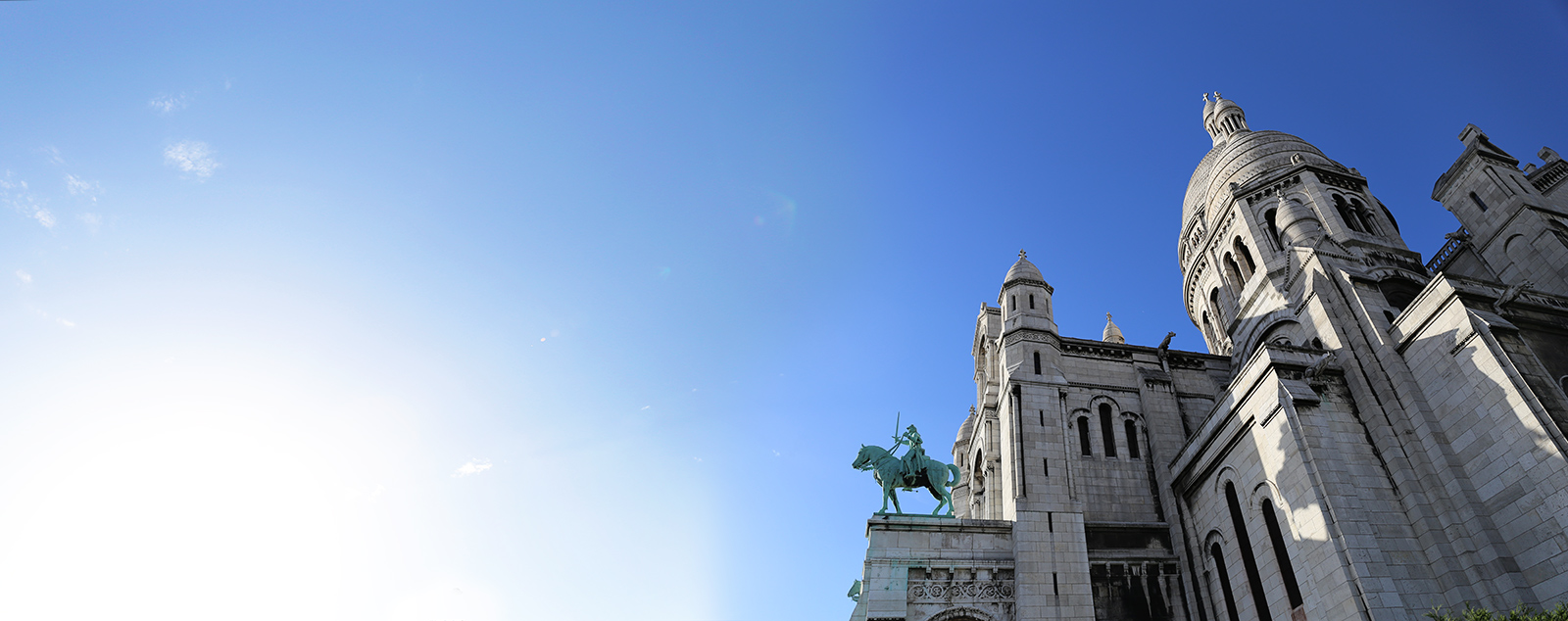 Sacré-Cœur  in Paris. I had to stitch several photos together to make this work.  This was one of the few cloud-free days.